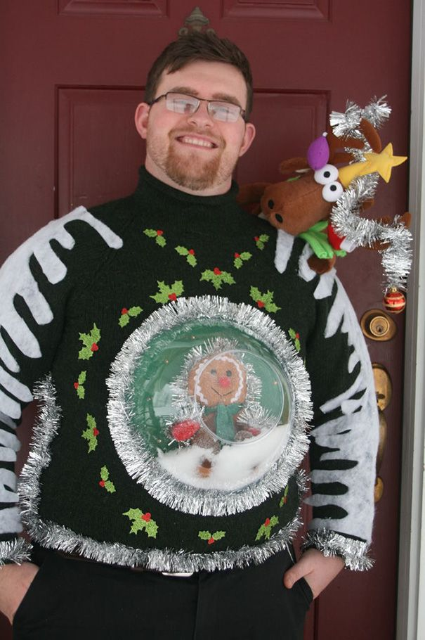 Snow Globe Christmas Sweater 115