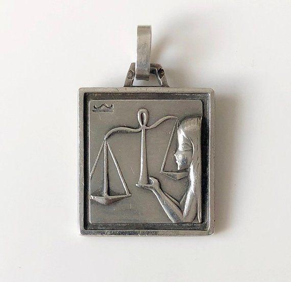 Silver Cancer Pendant French Zodiac Charm