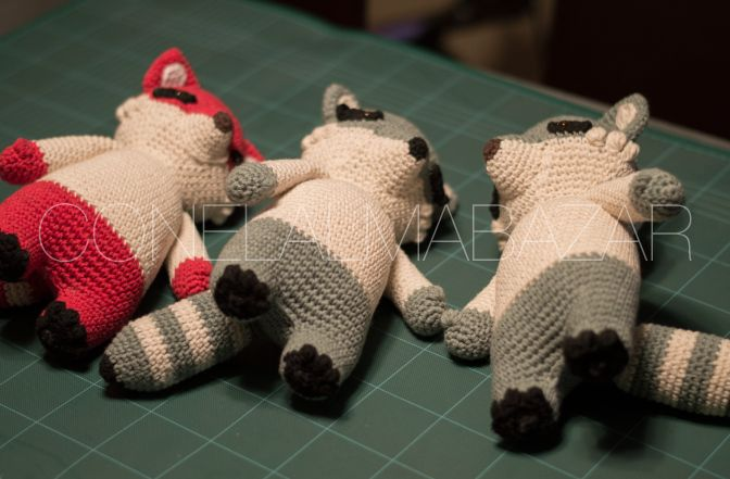 conelalmabazar  racoons - Meeko - crochet - amigurumis - hobby - personajes - kawaii