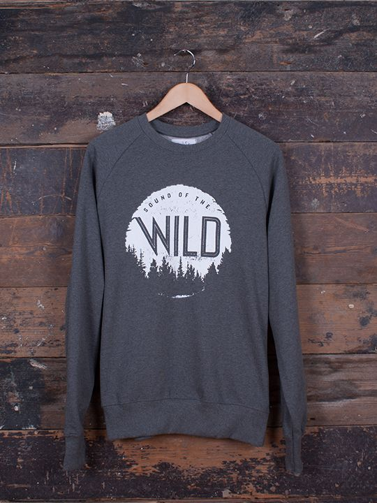 Sound Of The Wild Graphic Jumper - hand screen-printed on ethically made 100% Organic Cotton Jumper by Franz Jeitz for The Level Collective