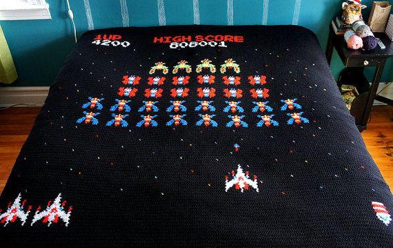Galaga Blanket