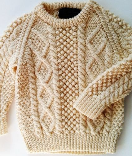 aran jumper. Traditional pattern from the Aran isles.