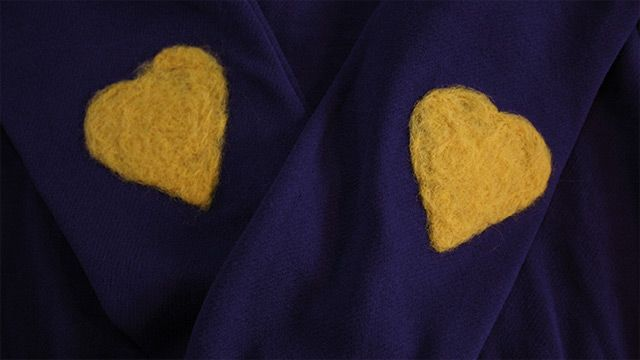 felt heart knie/elbow patches