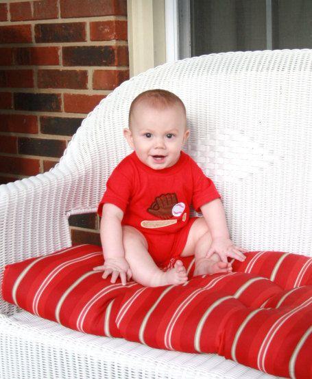291824 Baby Boy Clothes  Baseball Romper  Baseball Jon by ZuliKids, $19.50