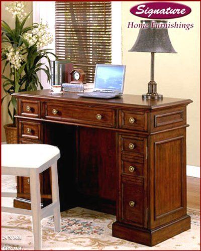 signature desk in antique cherry si374401 by signature gathering