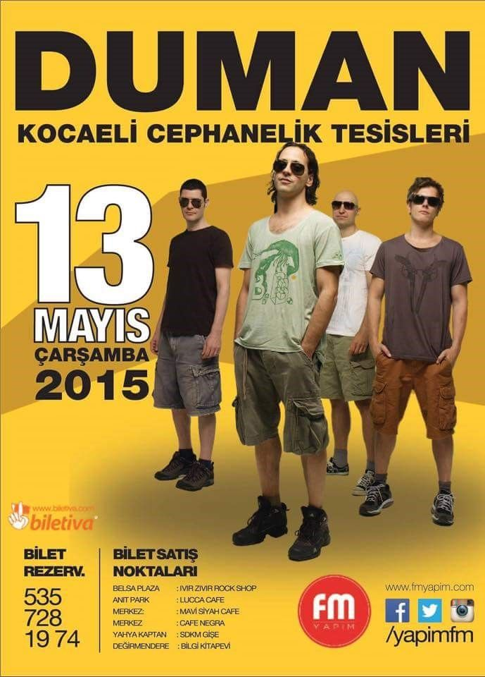 #13MayısDUMANKocaeliKonseri Yer:Kocaeli Cephanelik Tesisleri .. Zaman:13 Mayıs . @radyo_kou #8Olog #Konser