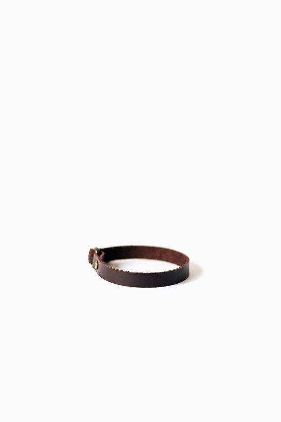 Leather bracelet brown Wrap bracelet Women leather by TOMBERgoods
