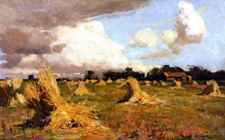 Australian December Sir Arthur Streeton - 1887 Newcastle Region Art Gallery (Australia) Painting - oil on canvas Height: 40.9 cm (16.1 in.), Width: 66.4 cm (26.14 in.)