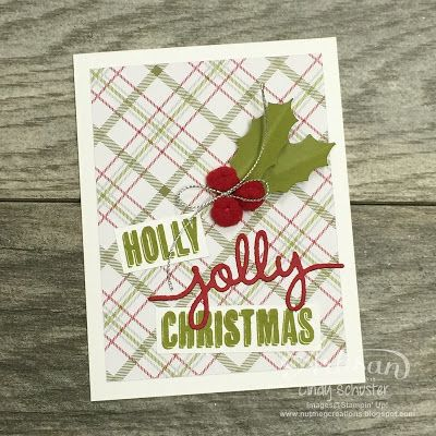 Christmas plaid with the Merry Moments Designer Series Paper Stack to make many cards ~ Cindy Schuster