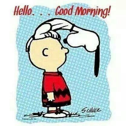 Snoopy Hello Good Morning Image