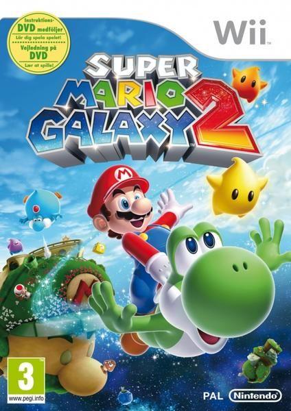 Super Mario Galaxy 2. Det klassiska Nintendo-spelet i en andra Galaxy-version. Har fått toppbetyg av entusiastiska recensenter. För Nintendo Wii och lanserad 2010.