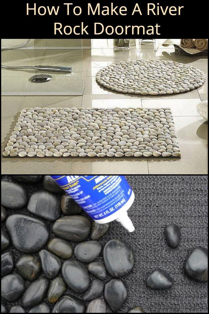 How To Make A Diy River Rock Doormat With Images Diy River