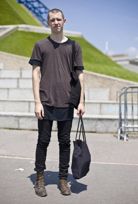 Tシャツのサイズ感をうまく利用したコーデ。Tシャツ 重ね着のアイデア