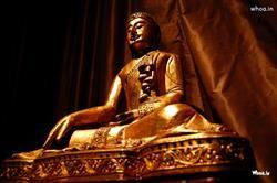 Lord Buddha Golden Statue Art HD Wallpaper, Hindu God Wallpaper, Lord Buddha Wallpaper, Gautama Buddha Wallpaper