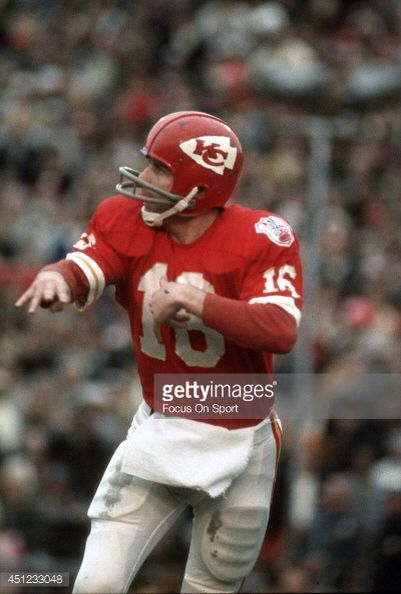 Len Dawson - Quarterback for the Kansas City Chiefs - Inducted into NFL Pro Football Hall of Fame in 1987.