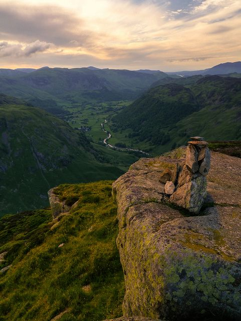 Eagle Crag Summit, The Lake District. Eagle Crag is a fell in the Lake District in Cumbria, England. Go to www.YourTravelVideos.com or just click on photo for home videos and much more on sites like this.