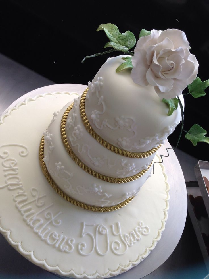 Mini Three Tier Anniversary Cake