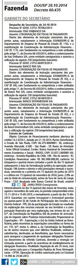 Empréstimo Consignado Governo São Paulo: Servidor Púbico- Governo Estadual de São Paulo-Des...