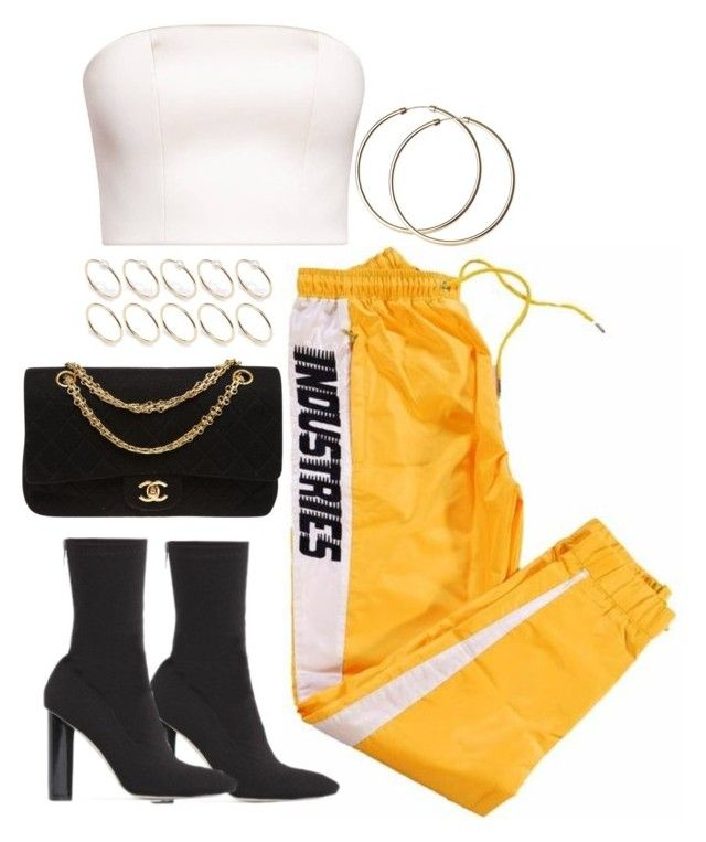 """""""Untitled #4855"""" by theeuropeancloset ❤ liked on Polyvore featuring Public Desire, Chanel and ASOS"""