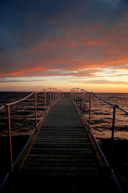 #baltyk #hel #poland #polska #sea #sunset sea by Joanna Grabowska