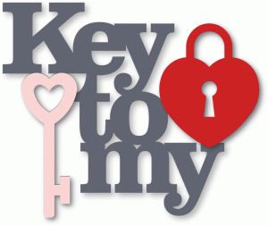 Silhouette Design Store - View Design #37648: 'key to my heart' phrase