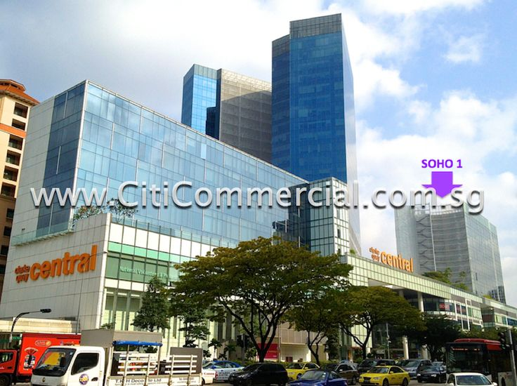 The Central is a commercial and residential building. It comprises a 5-storey shopping mall situated below 2 blocks of 8 and 12 storey small office/home office (SOHO) units and 2 blocks of 25-storey office tower. It was built in 2007.