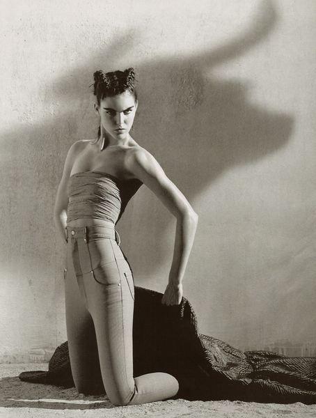 Vogue Paris Dec 2006 - Hilary Rhoda by Mark Segal