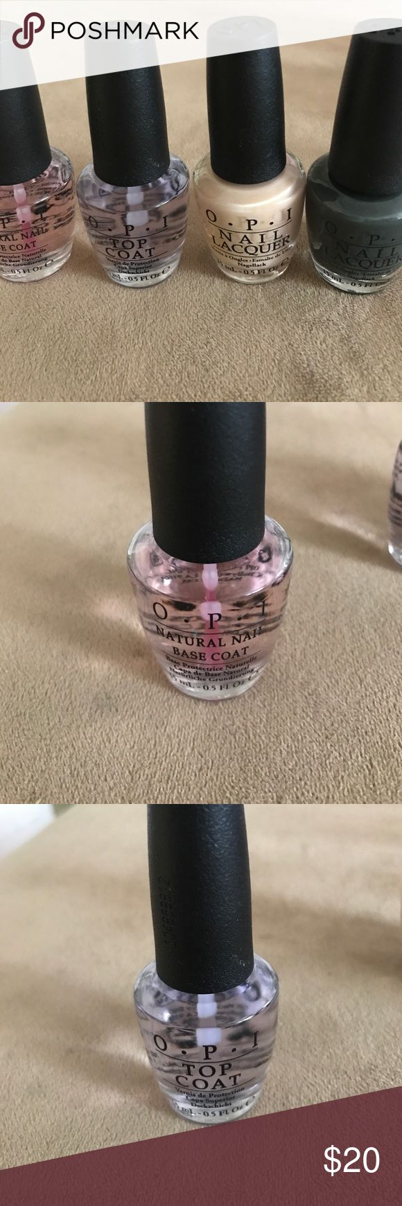 """OPI Nail Polish Set Brand new! Includes: """"Nein! Nein! Nein! Ok Fine!"""", """"Bubble Bath"""", Natural Nail Base Coat, and Top Coat. OPI Makeup Brushes & Tools"""