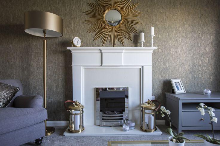 Dramatic fireplace makes an impact at Walker Group's Ashton Gardens in Kirkliston