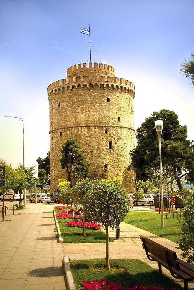 The White Tower, O Levkos Pirgos, Thessaloniki, Greece