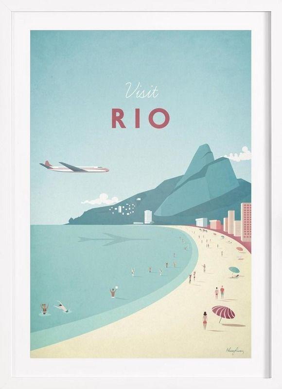 Rio - Henry Rivers - Affiche premium encadrée