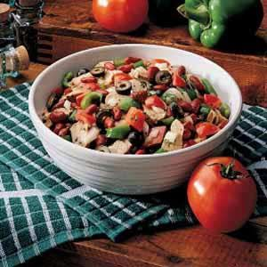 Southwestern Pork Salad Recipe -As pork producers, we're proud to cook and serve the delicious product we raise. This tempting salad is refreshing and colorful. It's a succulent showcase for pork. I know your family will enjoy it as much as we do. -Sue Cunningham, Prospect, Ohio