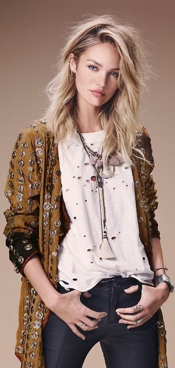 Candice Swanepoel for Free People Lookbook July 2014