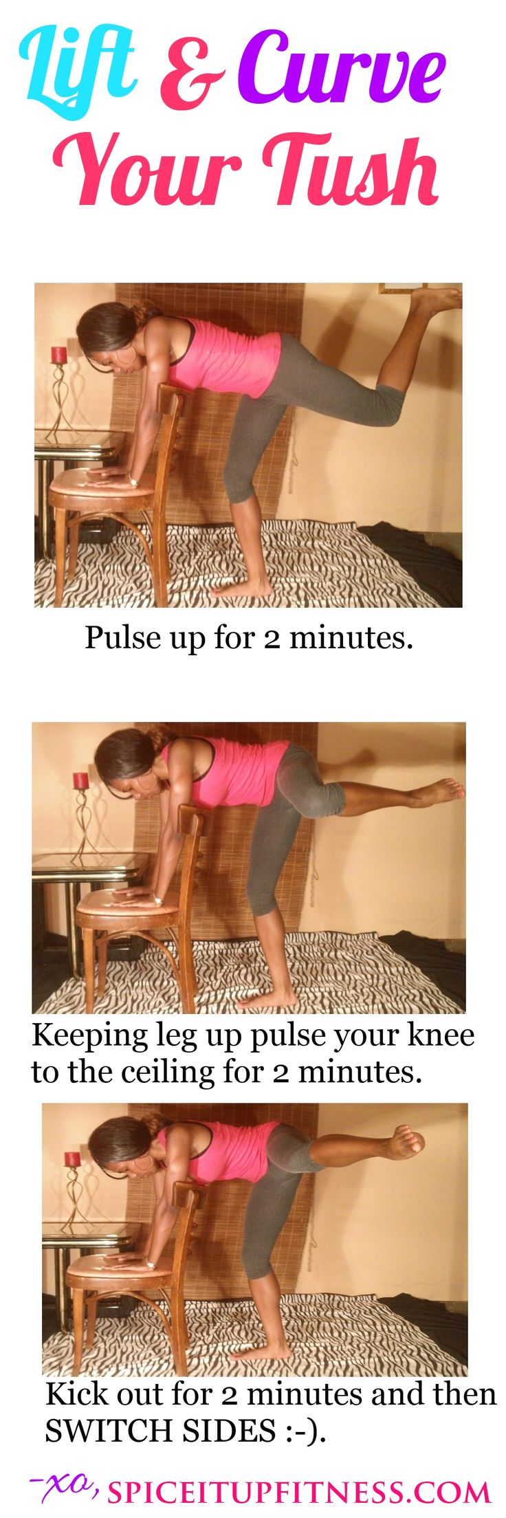 Great exercise routine for sculpting those glutes!  #howtogetabiggerbutt #sexinessisearned #homebootyworkouts