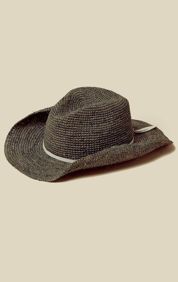 RAFFIA CROCHET COWBOY HAT