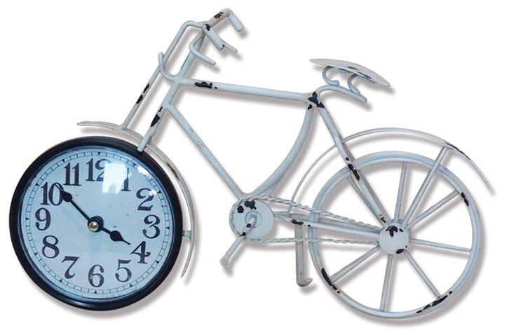 Eskitme Bisiklet Metal Saati  Ürün Bilgisi ;  Ürün maddesi : Metal ve gerçek cam kullanılmıştır Ebat : 29 cm x 19 cm Eskitme Bisiklet Metal Saati Şık ve hoş masa saati Mekanizması (motoru) : Akar saniye, saat sessiz çalışır Saat motoru 5 yıl garantilidir Masa Saati sağlam ve uzun ömürlüdür Kalem pil ile çalışmaktadır Gördüğünüz ürün orjinal paketinde gönderilmektedir. Sevdiklerinize hediye olarak gönderebilirsiniz