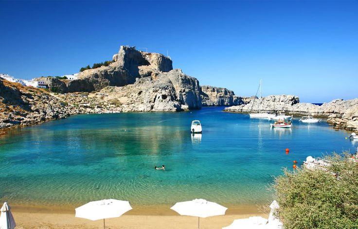 Lindos beach, Rhodes