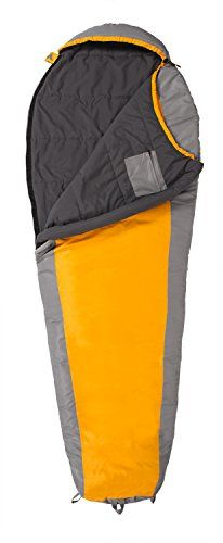 "TETON Sports TrailHead +20F Ultralight Sleeping Bag. Size 87"" x 32"" x 22"", Pack Weight 2.9 lbs., Pack Size 14.5"" x 6.5"" x 6.5"". Brushed Micro Polyester Lining. Sturdy, water-resistant, diamond ripstop shell. Interior pocket zips to safely hold electronics or wallet. Fits in the lower sleeping bag compartment of most hiking backpacks."