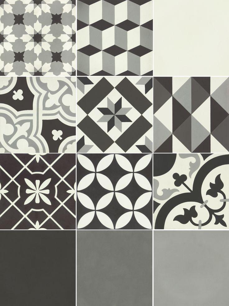 Les 25 meilleures id es de la cat gorie carreaux de ciment noir et blanc sur - Carrelage ciment noir et blanc ...