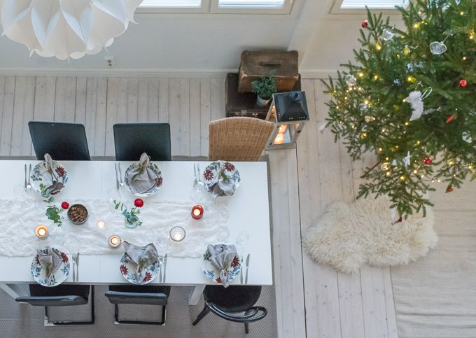 Christmas at home  diningroom, diningarea, tablesetting, christmashome  www.tohkeissaan.fi