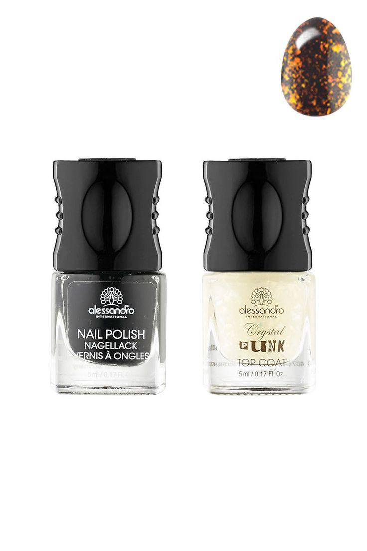 Venda Alessandro / 13398 / Verniz para unhas / Nail art / Kit nail art Go Magic! Crystal punk - Freaky orange. 3,30€