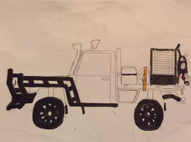 V8 landcruiser I drew