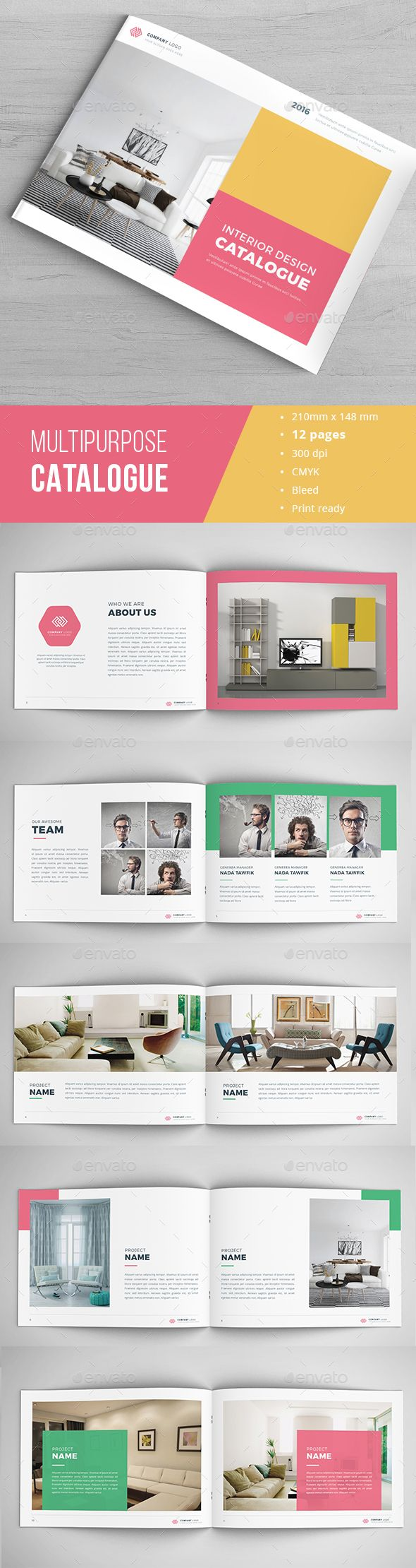 Modern Catalogue Template InDesign INDD Download Here Graphicriver