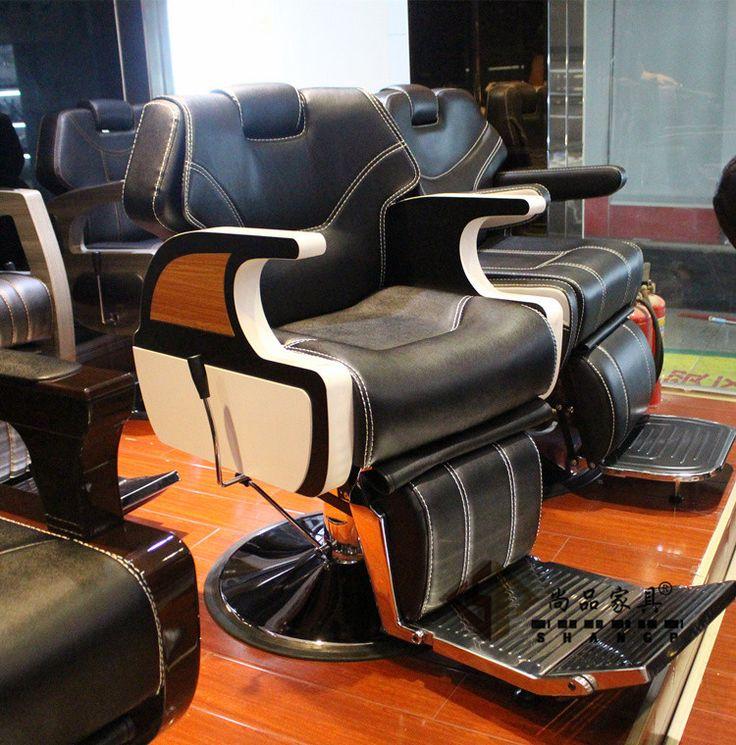 De gama alta corte de pelo silla. silla de peluquería silla de cuidado de la belleza grande se puede poner hacia abajo