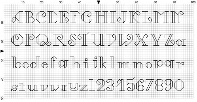 cross stitch fonts - free!