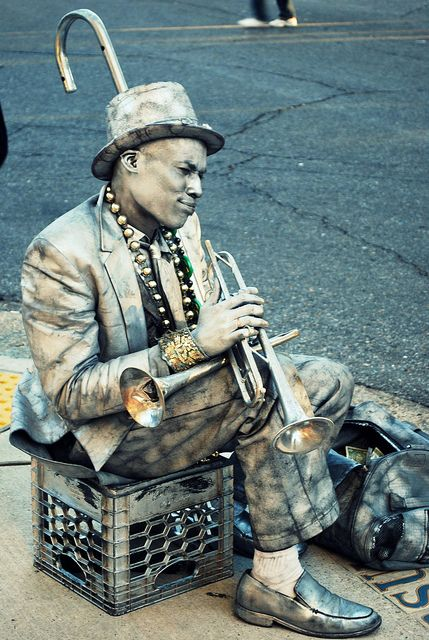 Silver Man - New Orleans, LA. Laura Steffan Photography #neworleans #frenchquarter