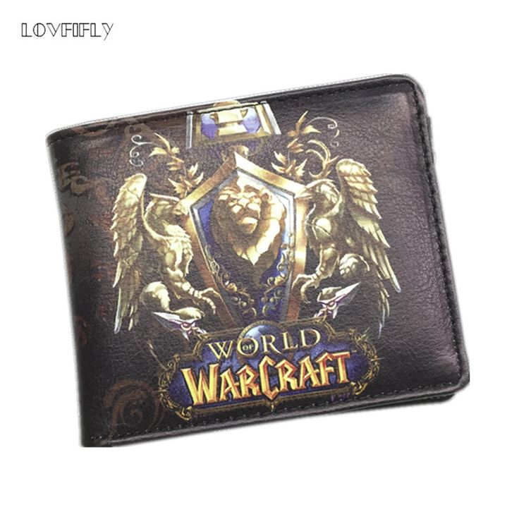 2016 Newest The World of Warcraft Wallets Leather Slim Small Wallet WOW Alliance Horde Flag Purse Cool Movie Game Wallet For Men