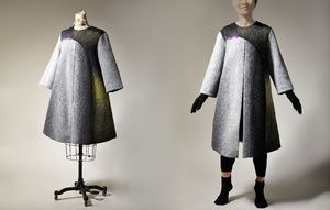 Long Coat - 2 Description: Hand loomed, dyed, felted, wool Dimensions: H:0.10 x W:0.10 x D:0.10 Inches