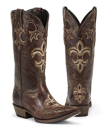 Another great find on #zulily! Rust Lafourche Leather Cowboy Boot by Black Star #zulilyfinds