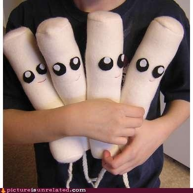 Yes, I believe those are cuddly stuffed tampons!: Tampon Plushies, Aunt Flo, Periodic Humor, Animal Tampon, Funny Stuff, Awestuf Tampon, Hilarious Jokes, Break News, Plush Toys